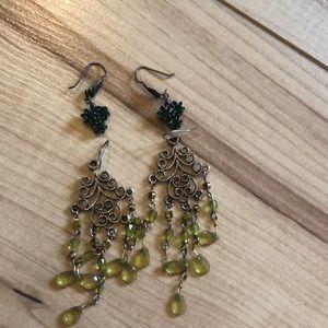 🍁5/$20🍁 Green hues earring lot